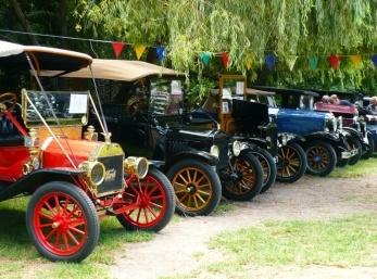 The display from the Crankhandle Club 2012    www.classiccarandbikeshow.co.za  (c) Jo Huysamen