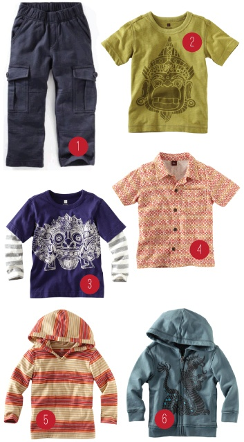 Cool boy's clothes, not involving trucks or dinosaurs!