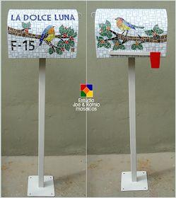 Mosaicos J&R: Pássaros em mosaico - Caixa de Correspondências