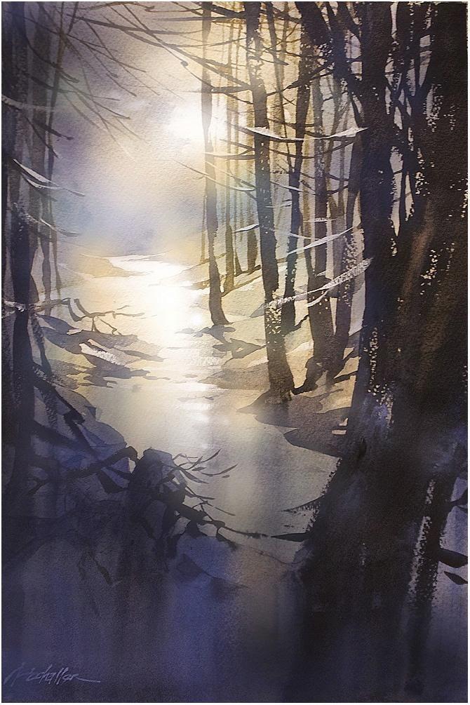 """Moonlit Stream"" Thomas Schaller"