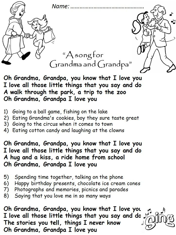 Best 25 grandparents day poem ideas on pinterest for Funny fishing songs