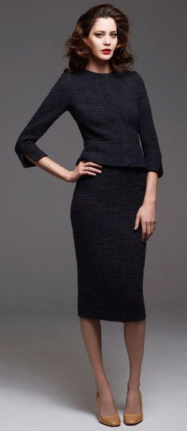 simplicity - long pencil skirt and fitted jacket with three quarter sleeves
