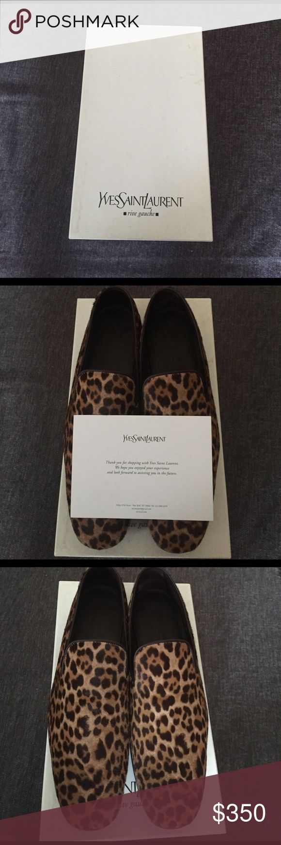 Authentic Yves Saint Laurent Loafers Gently worn Authentic Yves Saint Laurent Leopard Slip-On shoes Yves Saint Laurent Shoes Loafers & Slip-Ons