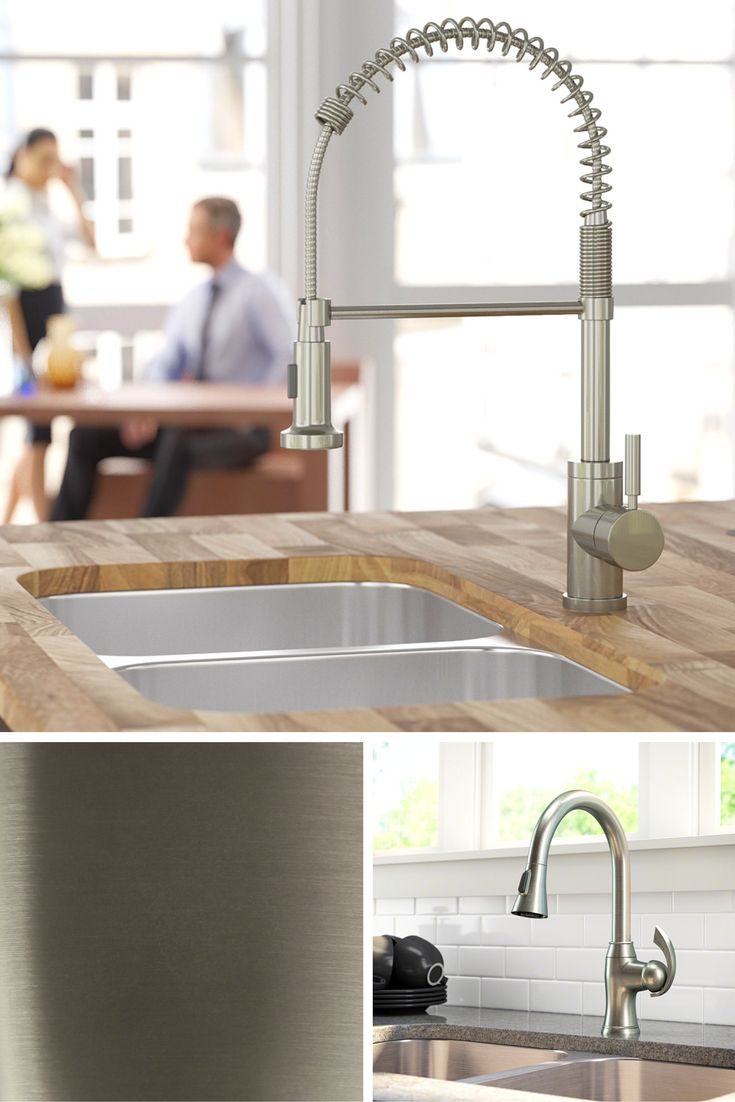 best 25 brushed nickel kitchen faucet ideas on pinterest moen our most popular selling faucet finish the soft glow of brushed nickel will add warmth