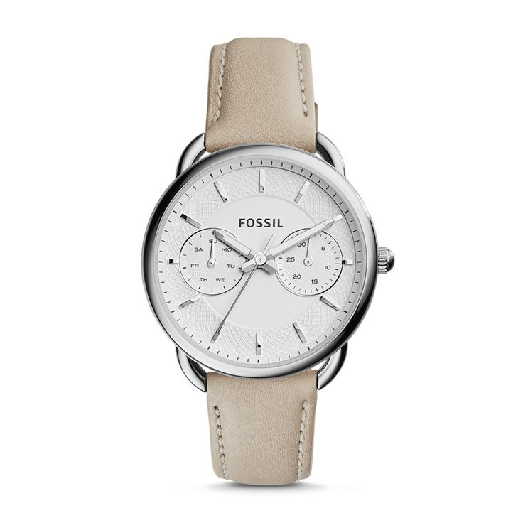 Fossil Tailor Multifunction Leather Watch – White, ES3806| FOSSIL® Watches