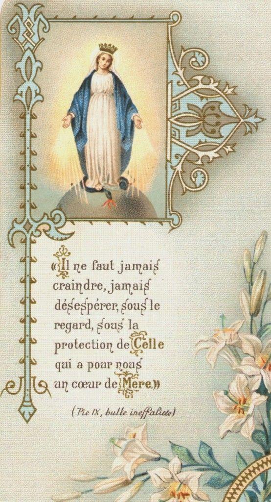"""""""Il ne faut jamais craindre, jamais désespérer, sous le regard, sous la protection de Celle qui a pour nous un coeur de Mère"""" Padre Pio"""