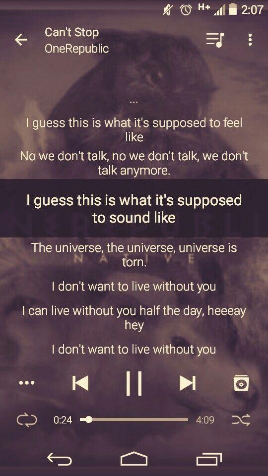 211 best OneRepublic Lyrics images on Pinterest   Lyrics, Music ...
