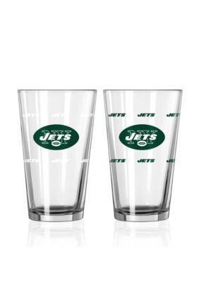 Boelter  16-Oz. Nfl Jets 2-Pack Color Change Pint Glass Set - Licensed Team Colors - One Size