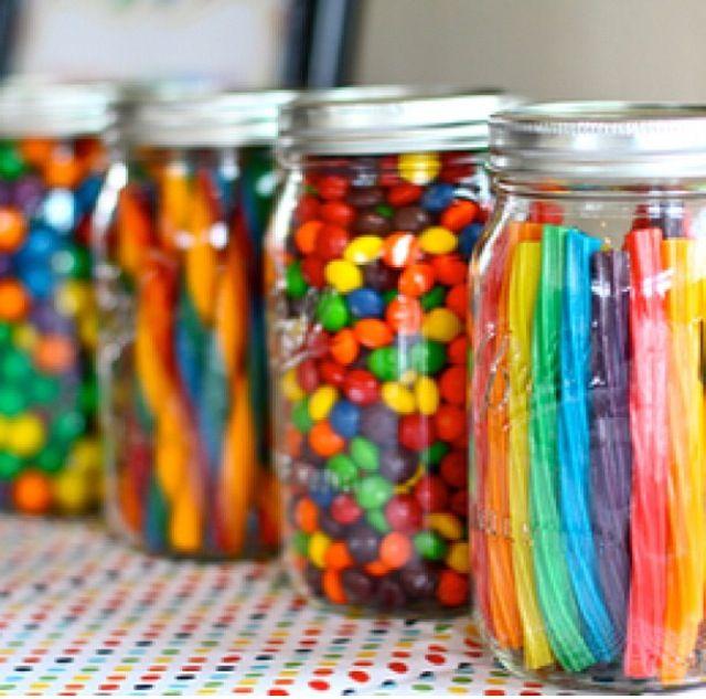 rain bow Candy jars