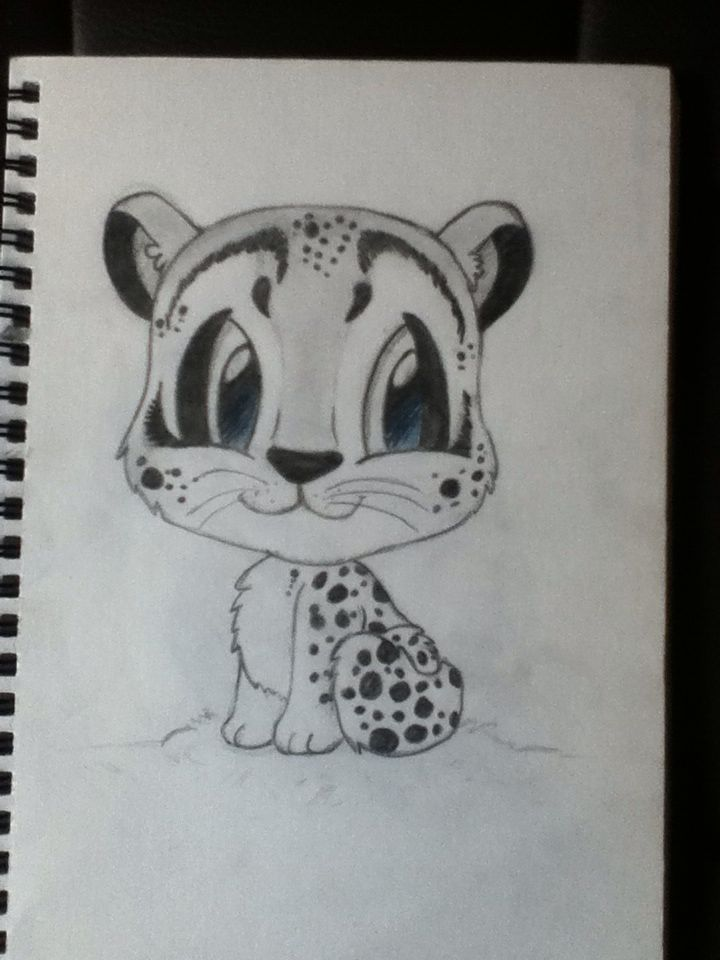 Snow Leopard chibi inspired by pic off the Internet