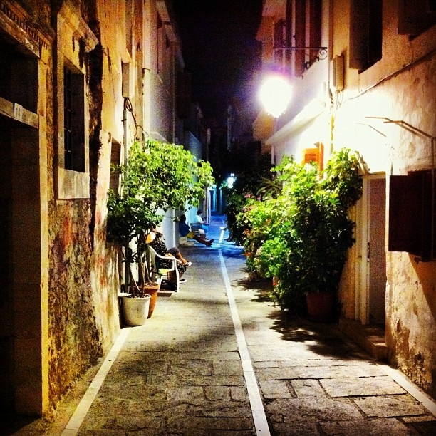 Rethymno old town, by night