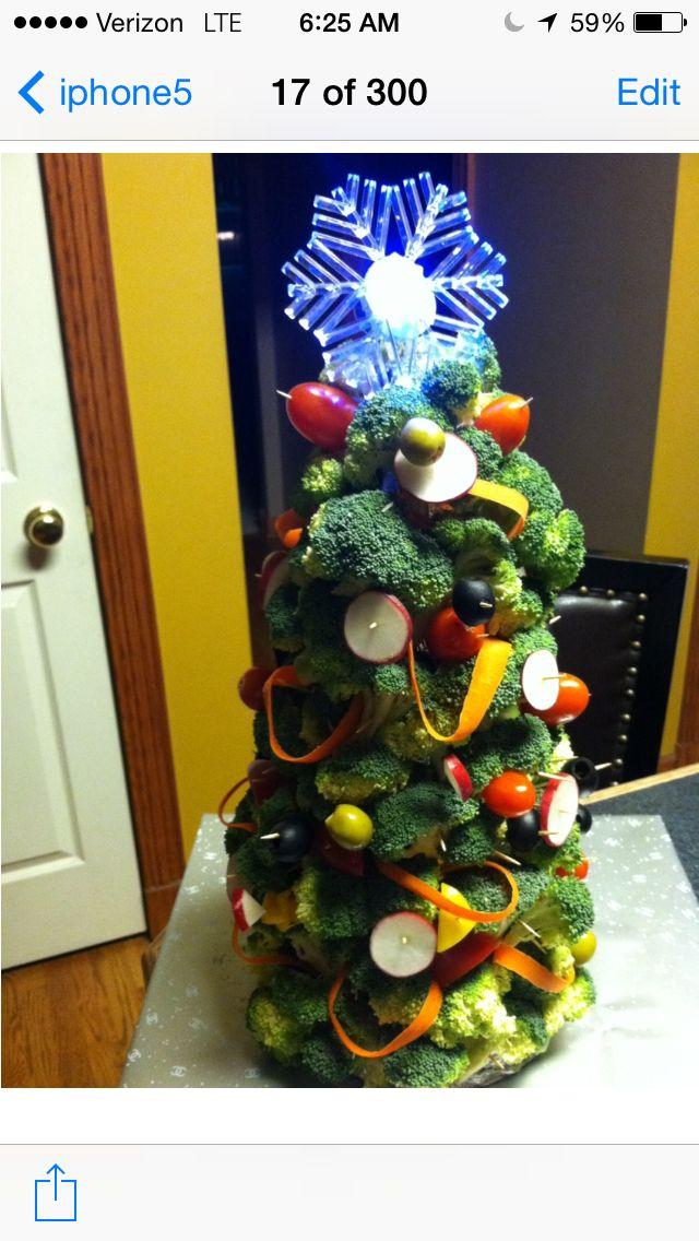 Fresh vegetable Christmas tree | Desserts | Pinterest | Trees, Fresh ...
