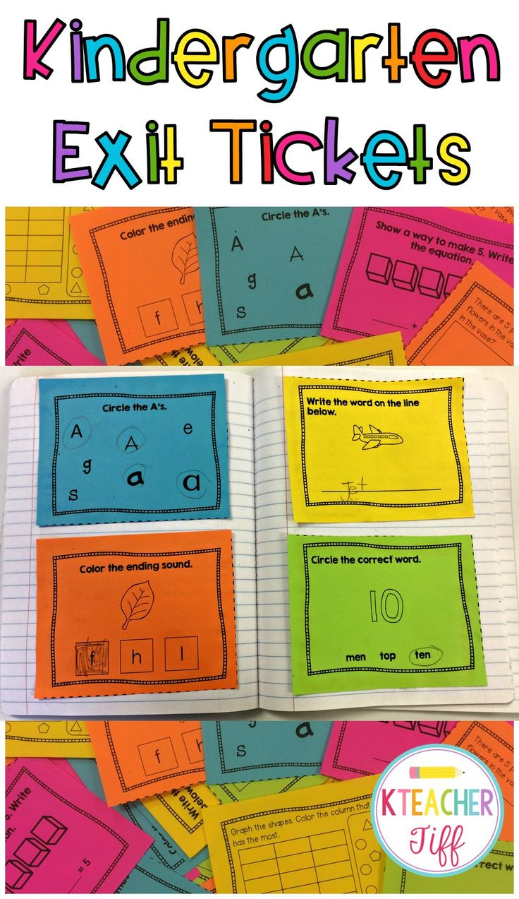 Kindergarten exit tickets are a great quick formative assessment tool! Exit tickets for math and language arts. You need these!