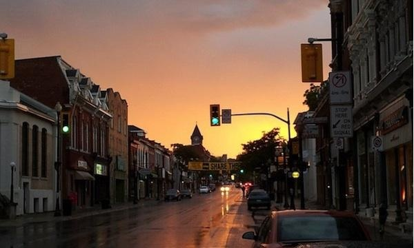 Dundas On Main St at Sunset by Eric Harvey