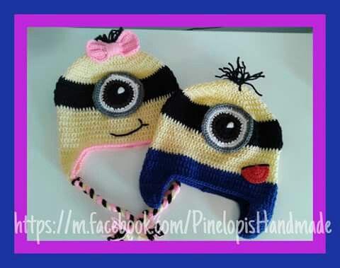 Crochet minions!  https://m.facebook.com/PinelopisHandmade/