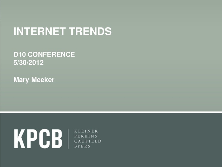 Some interesting numbers especially about mobile growth in 2011. kpcb-internet-trends-2012 by Kleiner Perkins Caufield