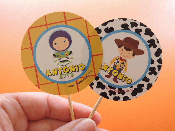 Toppers inspirados en Toy Story