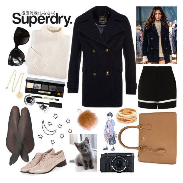 """The Cover Up – Jackets by Superdry: Contest Entry"" by bartivana ❤ liked on Polyvore featuring Superdry, Blair, Chanel, Bobbi Brown Cosmetics, Philippa Holland, Alexander Wang, Prada, Kenneth Jay Lane, Topshop and Fujifilm"