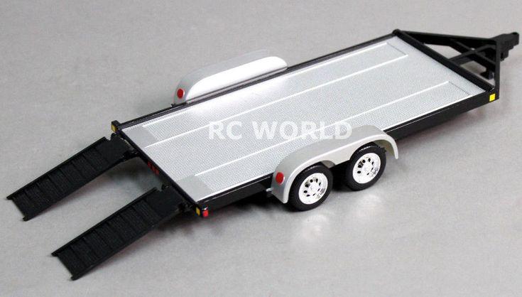 RC Scale Accessories METAL CAR TRAILER W/ Ramps 1/24 For KYOSHO MINI-Z  -BLACK-    eBay