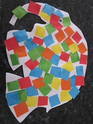 "cute art activity for children's book ""Elmer The Elephant"" from... Rhyme Time…"