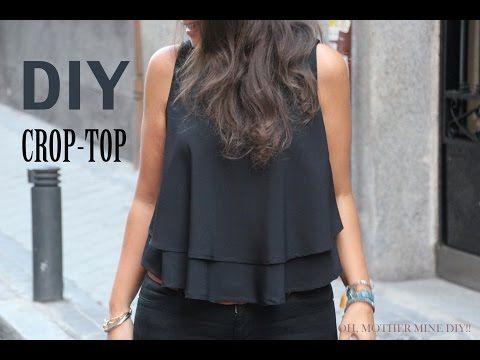 DIY Costura: Cómo hacer blusa crop top (patrones gratis) | Manualidades                                                                                                                                                                                 Más