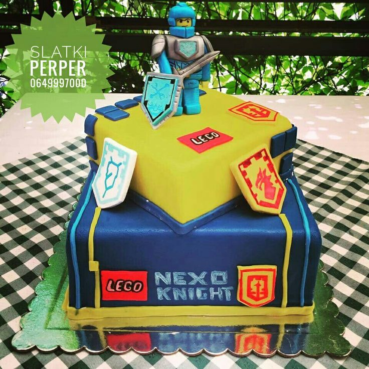 Lego Nexo knights birthday cake by Slatki Perper 0649997000