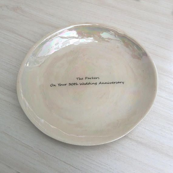 Personalised Plate  Anniversary Gift for Couple