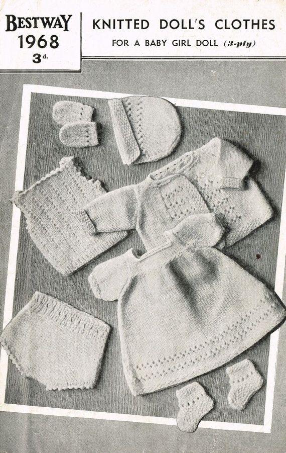 8456713e2329 Bestway 1968 baby girl dolls clothes vintage by Ellisadine on Etsy ...