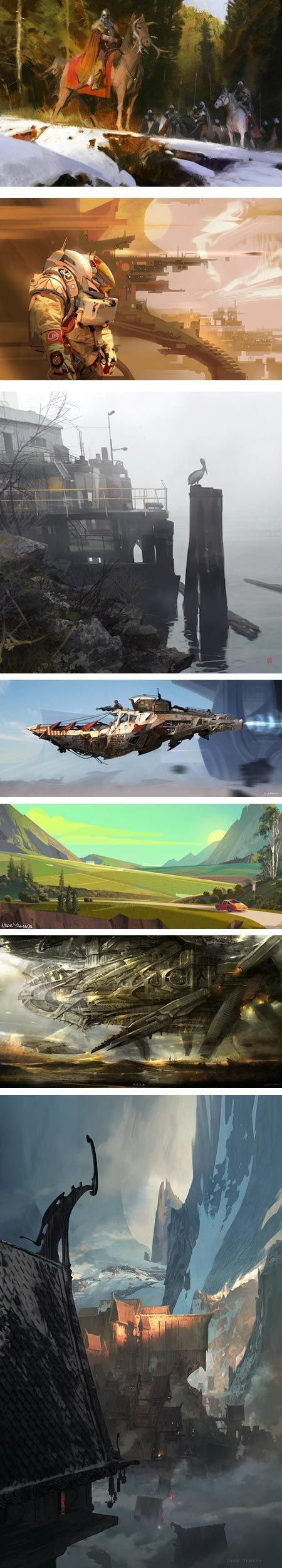 Painting in Pixels, An Exhibition of Concept Art at the Riverside Art Museum: Jaime Jones, Tyler West, Thierry Doizon (aka barontieri), Scott Robertson, Mike Yamada, Cecil Kim, Thom Tenery: