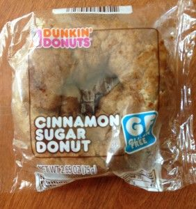 """The """"Skinny"""" On Dunkin Donuts Gluten Free Donut And Muffin including nutrition information and ingredients lists."""