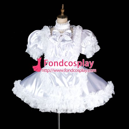 Free Shipping lockable Sissy maid Satin Uniform cosplay costume Tailor-made[G1997] #Sissy maids http://www.ku-ki-shop.com/shop/sissy-maids/free-shipping-lockable-sissy-maid-satin-uniform-cosplay-costume-tailor-made-g1997/