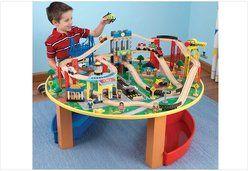Jouet en bois KIDKRAFT 17985 - Table et Circuit City Explorer's - jouet en bois KIDKRAFT