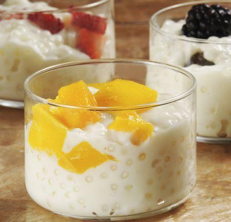 Tapioca cremosa con fruta   Cocina y Comparte   Recetas