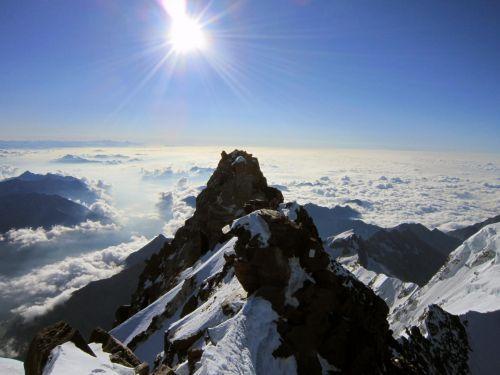 Magnifica foto di Punta Dufour Monterosa, un grazie alle Guide Alpine Macugnaga