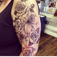 tiger lily and rose tattoo - Google Search