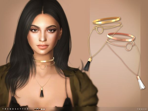 The Sims Resource: Trendsetter Necklace by toksik • Sims 4 Downloads