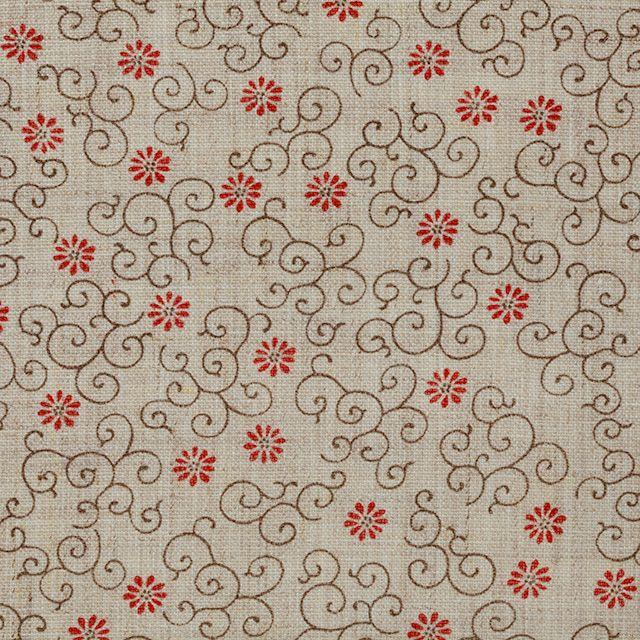 【小紋 花唐草(中川政七商店)】/奈良時代にシルクロードを経て、中国から日本に伝わった唐草模様。蔓草が勢いよく伸びる様子を発展に結びつけ、吉祥紋様として用いられることも多くなっています。 #japanesetextiles #textile #patterns