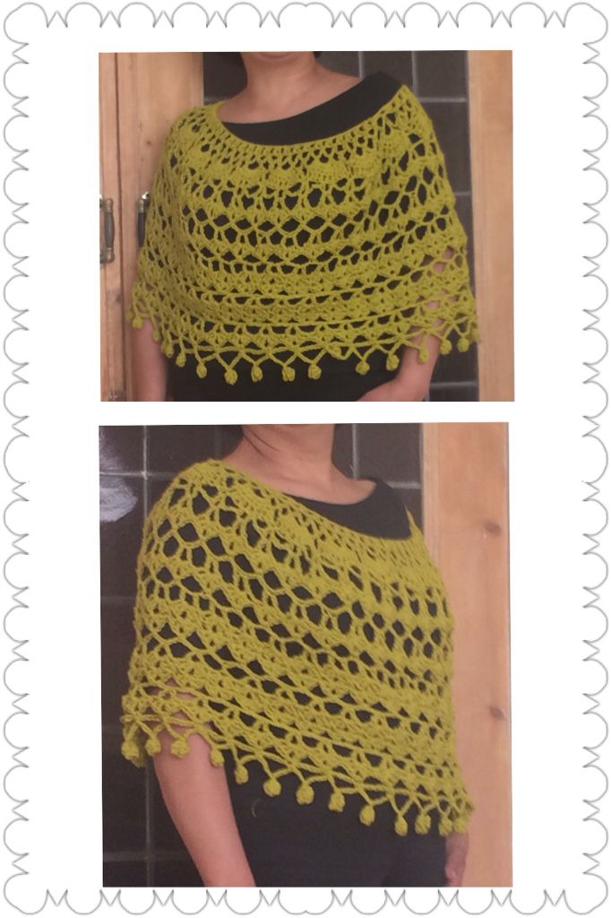 Korte poncho graceful shell