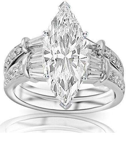 1.34 Carat Marquise Cut / Shape GIA Certified 14K White Gold Baguette And Round Brilliant Diamond Engagement Ring and Wedding Band Set ( D Color , VVS2 Clarity ) Chandni Jewels,http://www.amazon.com/dp/B00BRMTKE2/ref=cm_sw_r_pi_dp_QVY5rb0TF3FQM8AX
