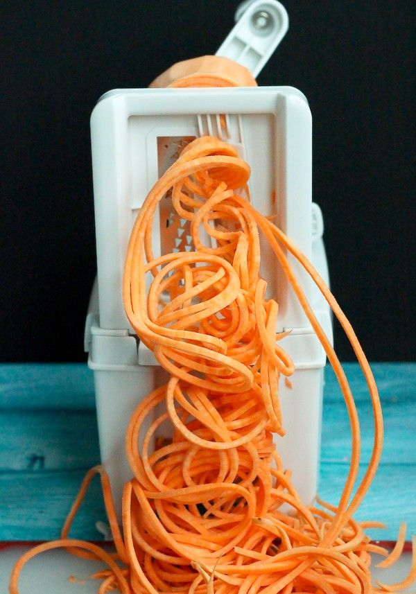 How to Make Sweet Potato Noodles - Get the easy directions on RachelCooks.com