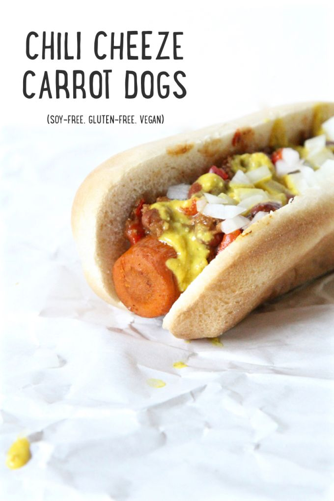 Vegan Chili Cheeze Carrot Dogs - recipe from The Easy Vegan Cookbook!