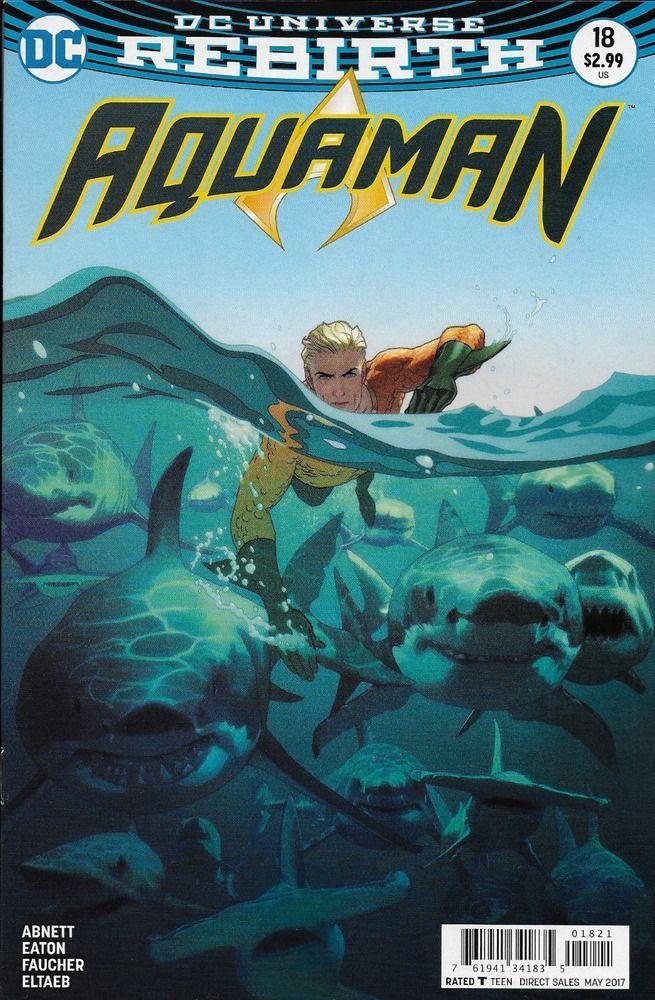 1st Print 8 # 16 DC Aquaman Vol Joshua Middleton Variant