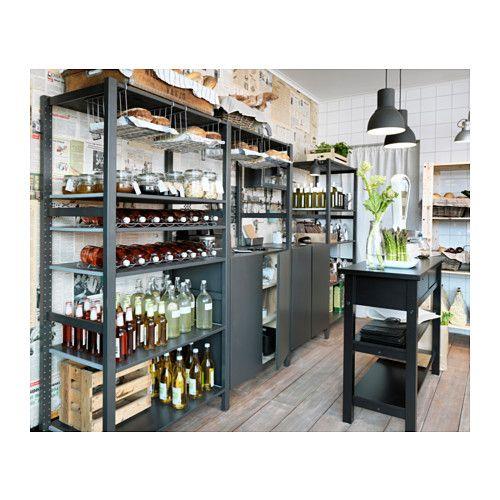 ivar 4 sections tablettes pin 344x50x179 cm jour vert am nagement et cellier. Black Bedroom Furniture Sets. Home Design Ideas