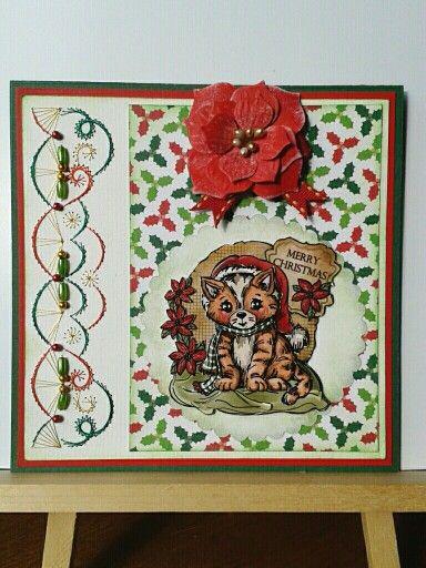 Kerstkaart met plaatje van Yvonne Creations | 3d kaarten ...