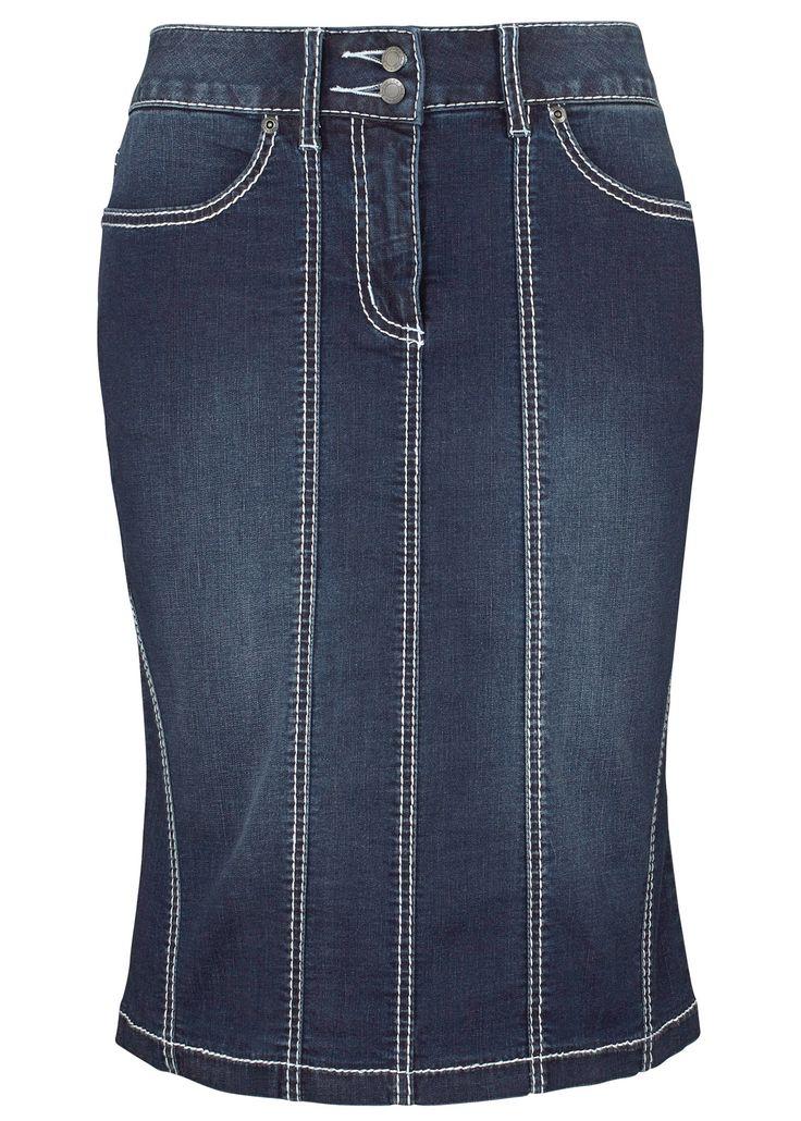 £: Gonna di jeans elasticcizzata, John Baner JEANSWEAR