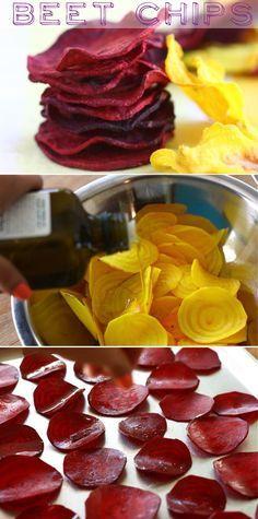 Chips saudáveis de legumes
