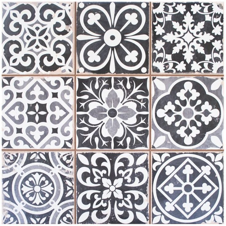38 best images about trend vintage tiles on pinterest for Carrelage hexagonal noir mat