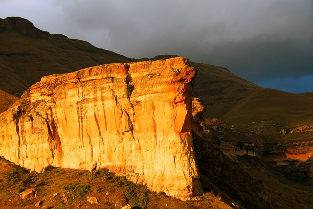 The Brandwag Rock in Golden Gate Highlands National Park - South Africa