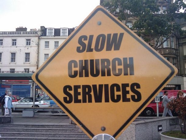 God knows I have sat through a few of those!  Funny And Unusual Road Signs
