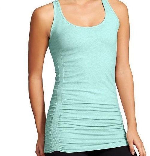 Breathable Womens Organic Cotton Athleta Yoga Crossfit Teal Fitness Top X Small  | eBay